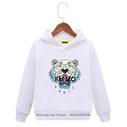 7b4085ad4895e Enfants Tiger Hoodies Nouveau Modèle Chao Fan À Manches Longues Fille  Automne Robe En Coton Enfants