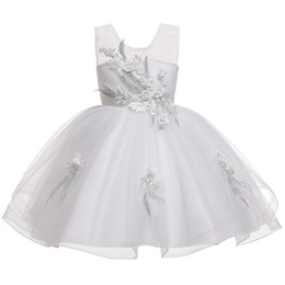 $enCountryForm.capitalKeyWord Australia - 2019 NEW Princess Pegeant Flower Girl Dress Lace Tutu Wedding Birthday Party Kids Dresses for Girls Children's Costume 3 6 8 10 12 Years