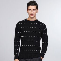 Black Jumper Sweater Australia - Men's Black Sweater Designer Casual Young Men Knitting Cotton Sweater Jumpers Pullover Teenager Fall Winter Clothing