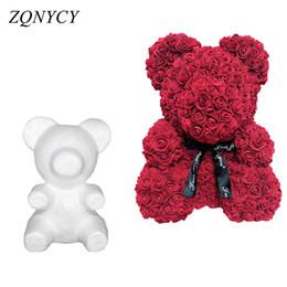 $enCountryForm.capitalKeyWord Australia - 1Pcs Modelling Polystyrene Styrofoam White Foam Bear Mold Teddy For Valentine's Day Gifts Birthday Party Wedding Decoration
