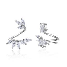 56104b646 Vintage silVer rose earrings online shopping - ED722 Stud earrings for  women new Luxury white Zircon