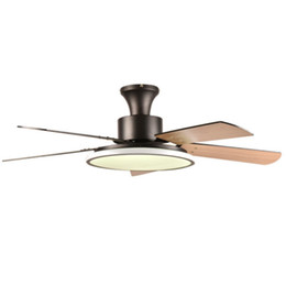 wood ceiling lights Australia - Modern Ceiling Fans for Low Ceilings Led Ceiling Fans Lights 110V 220V White Black Ceiling Fan Lights Modern Wooden Fan