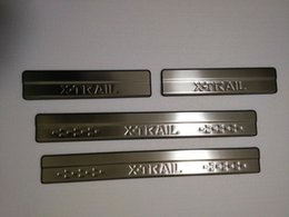 Pedals Nissan Australia - Stainless Steel Door Sill Scuff Plate for 2014-2017 Nissan X-Trail l XTrail T32 Welcome Pedal Trim Car Styling
