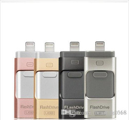 Flash Drive For Iphone NZ - Brand SB flash drive for iphoneU Disk 3 in 1 Pen Drive USB Flash Drive U Disk Memory Stick for Apple iPhone 5 5S 6 6s plus iPad OTG Pendrive