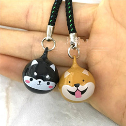 $enCountryForm.capitalKeyWord NZ - The mascot Zodiac dog Huskey bell mobile phone pendantpet cartoon bag charm keychains