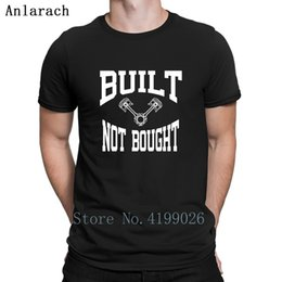 buying blue shirt Canada - Built Not Bought Car T-Shirts Customize Euro Size S-3xl Gents Breathable T Shirt Tee Tops Pattern Free Shipping