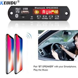 Free Audio Recording Australia - KEBIDU 5-12V MP3 Player Bluetooth Decoder Board Car Kit Hand-free Call Recording FM Radio TF USB 3.5mm AUX Audio Colorful Screen