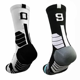 Wholesale mechanic towels resale online - Professional Free collocation number Basketball Socks Thick Sports Socks Non slip Durable Skateboard Towel Bottom football Soccer Socks