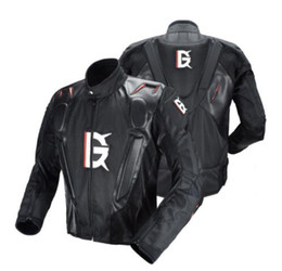 pu racing jacket motorcycle UK - GHOST RACING Motorcycle Jacket PU Leather Racing Jacket Body Armor Protection Moto Motocross Off-road Clothing Protective Gear