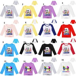 T shirT prinTing for babies online shopping - 31 styles DJ marshmello baby T shirt Summer Print long Sleeve O Neck Tees for children Tops Kids Clothing C6175