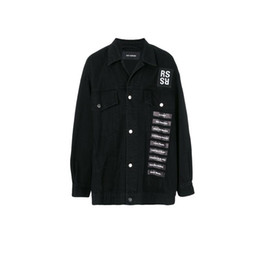 Product shows online shopping - RAF SIMMONS ss DENIM JACKET shirt PVC TAPE ASAP ROCKY STYLE LOng Sleeve JACKET Catwalk Show Product