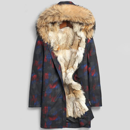 Wholesale wolf hoodie 3xl resale online - Real Fur Jackets Hoodies Mens Clothing Winter Clothes Wolf Fur Coats Outerwear Overcoat Windbreaker Snow Wear Raccoon Fur Collar L XL