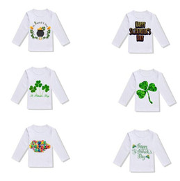 T shirT prinTing boy girl prinT online shopping - 3 Y Boys and Girls T Shirt St Patrick s Day Children s Short Sleeve Fashion Cute Print T Shirt Top Baby Children s Wear MMA1474
