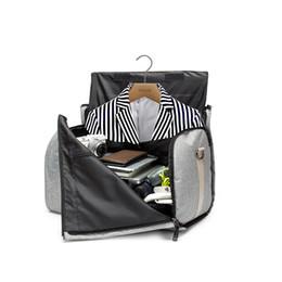 $enCountryForm.capitalKeyWord Australia - Large-capacity Folding Waterproof Oxford Suit Travel Bag Multi-function Handbag Clothing Travel Storage Bag Men's Shirt Suit Organizer