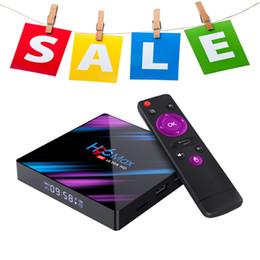 Android 4.4 Hdmi Tv Box Australia - H96 MAX RK3318 Android 9.0 2 16gb 4 32gb 4 64gb bluetooth4.0 Smart tv box 5G Dual wifi 4K tv box