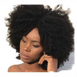 4c human hair UK - Afro Kinky Curly Clip In Human Hair Extensions 4B 4C Brazilian Human Natural Hair Clip Ins Dolago Remy Full Head