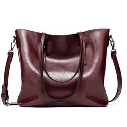 Hand Bag Large Brown Australia - good quality Women Shoulder Bag Fashion Women Handbags Oil Wax Leather Large Capacity Tote Bag Casual Women Messenger Hand Bags