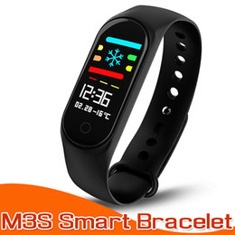 Wholesalers Android Boxes Australia - Smart Bracelet for Xiaomi Fitness Tracker M3S Smartband with Heart Rate Tracker for Apple Fitbit Android Cellphones in Retail Box