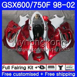 Red Katana Australia - Body For SUZUKI GSXF 750 600 GSXF750 1998 1999 2000 2001 2002 292HM.67 GSX 600F 750F KATANA GSXF600 98 99 00 01 02 Fairing dark red white