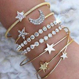 Bracelete pentagonal do bracelete da lua da estrela, jóia européia e americana venda por atacado