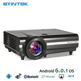 $enCountryForm.capitalKeyWord Australia - BYINTEK MOON BT96Plus Android Wifi Smart Video LED Projector Proyector For Home Theater Full HD 1080P Support 4K Online Video