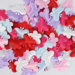 Wedding Bedding Australia - 1000pcs Sponge Butterfly Shaped Confetti Wedding Party Marriage Room Bed Petals Valentine Day Supplies Throwing Flowers