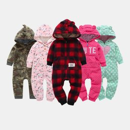 jumpsuit babies Australia - Warm Infant Baby Rompers Fall Winter Cartoon Hooded Fleece Baby Halloween Christmas Costumes jumpsuit newborn baby clothes