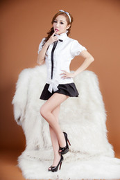 $enCountryForm.capitalKeyWord NZ - sexy lingerie cute girl student vogue white hot costume uniform for young lady