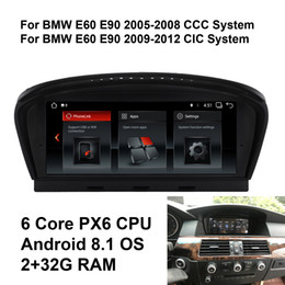 Aux Stereo System Australia - COIKA Car DVD Player Android 8.1 System For BMW E60 E90 2005-2012 GPS Navi Touch Screen Stereo 6-Core CPU BT SWC USB AUX
