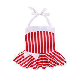 Girl's Bows Australia - Swimsuit for Girl 1PCS Baby Girl Clothes Stripe Bow Newborn Baby Bodysuits Cotton Baby Girl Swimwear Beach Clothes