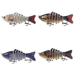 jig tails Canada - nA8r4 hook Lead-head Fishing soft bait set Luya bait combination set insect double-tailed pheasant set