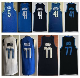 2019 New Stitched 77  Luka Doncic City Basketball jersey  41 Dirk Nowitzki  5  Jason Kidd Shirt Suture Embroidery Jersey Free Shipping Size 37cbae048