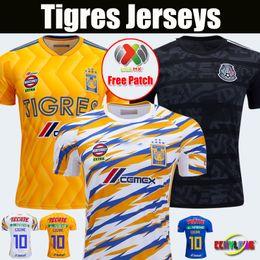 Woman jersey yelloW online shopping - 2018 UANL TIGRES New Third Soccer JERSEYS Club LIGA MX Women Men Maillot De Foot Home Yellow star GIGNAC football shirts