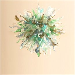 $enCountryForm.capitalKeyWord Australia - Chinese LED Chandelier Lamp New House Decoration Chihuly Style Modern Blown Customized Color Glass Chandelier for Sale