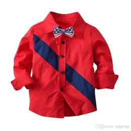 $enCountryForm.capitalKeyWord Australia - Designs INS Toddler Kids Boys Shirts Gentleman Patchwork Long Sleeve Tatting Cotton Polo Tshirts Spring Autumn Children Boys Casual Clothing