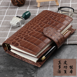 leather sketchbooks Canada - 2019 Yiwi A6 Genuine Leather Notebook Organiser Rings Binder Planner Cover Personal Size Diary Journal Sketchbook Agenda