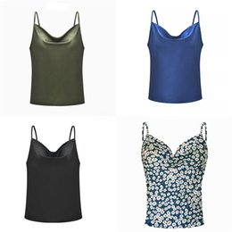 chiffon printing sexy girl NZ - Fashion Women Sexy Crop Tanks Tops Camis Summer Girls Coffee Print Hooded Sleeveless Kawaii Tee sport casual holiday Shirt vetement femme #26