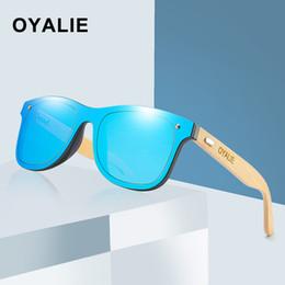 315523540e60c OYALIE Wooden Sunglasses For Women Fashion Brand Designer UV400 Mirror Lenses  Bamboo Sun glasses For Men 2019 New Arrival