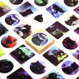 $enCountryForm.capitalKeyWord Australia - Hot Sale 45pcs box Black Cat Notebook Diary Drawing Painting Graffiti Cover Paper Memo Pad Office School Supplies Gift