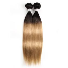 $enCountryForm.capitalKeyWord Australia - Peruvian Straight Hair Weave Bundles 1B 27 Ombre Honey Blonde Two Tone 1 or 2 Bundles 10-24 inch Indian Malaysian Human Hair Extensions