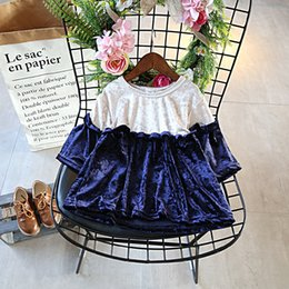 Girls Cinderella Tutu NZ - 2019 girl autumn princess Cinderella tutu sweet lace dress two colors baby romper dresses Christmas children good mouse velvet