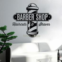 Logo Design Art NZ - Barbershop Sign Haircuts and Shaves Vinyl Wall Decal Sticker Barber Shop Wall Decor Murals Art Design Window Men Hair Logo