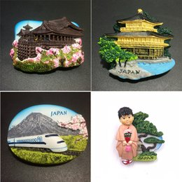 magnet fridge stickers Australia - Japan Landscape Fujiyama Fridge Magnet Kitchen Home Decor Resin Tokyo Japanese Kimono Refrigerator stickers magnets Souvenirs C3