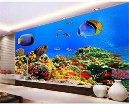 $enCountryForm.capitalKeyWord Australia - custom size 3d photo wallpaper livingroom bed room mural marine world tropical fish 3d picture sofa TV backdrop wallpaper non-woven sticker