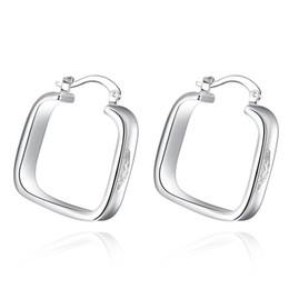 $enCountryForm.capitalKeyWord UK - New Fashion LKNSPCE280 Women Popular Delicate Silver Square Alloy Ear-clip Jewelry Gift New Fashion Women Ear-clip