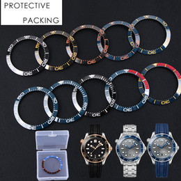 orange face watches men NZ - 38-30.5mm 40-32mm Black Gold Blue Orange Ceramic Bezel Insert For 40mm Dial for Omega 300 Man Watch Face Watches Replace Accessories