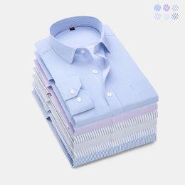 $enCountryForm.capitalKeyWord Australia - LENSTID Brand High Quality Striped Office Work Shirt Men French Cufflinks Casual Dress Shirt Long Sleeved Wedding Tuxedo Shirts