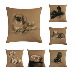 dog chairs Australia - Retro Schnauzer Dogs Cushion Covers Cute Lovely Pet Dog Cushion Cover Home Decorative Sofa Chair Short Plush Pillow Case ZY274