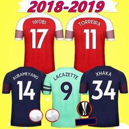 ad309cfef soccer jersey 2018 2019 home away 3rd red green blue football shirts  Torreira Aubameyang Lacazette Xhaka Iwobi kids kit set Mens 18 19