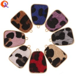 $enCountryForm.capitalKeyWord NZ - wholesale 50Pcs 21*29MM Jewelry Accessories Earring Parts Leopard Print Effect Drop Shape DIY Hand Made Earring Findings